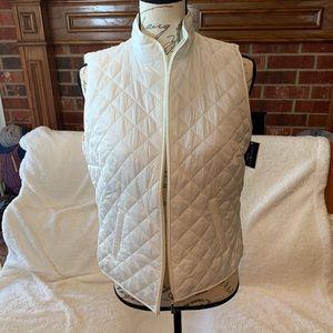 Karen Scott White Puffer Vest